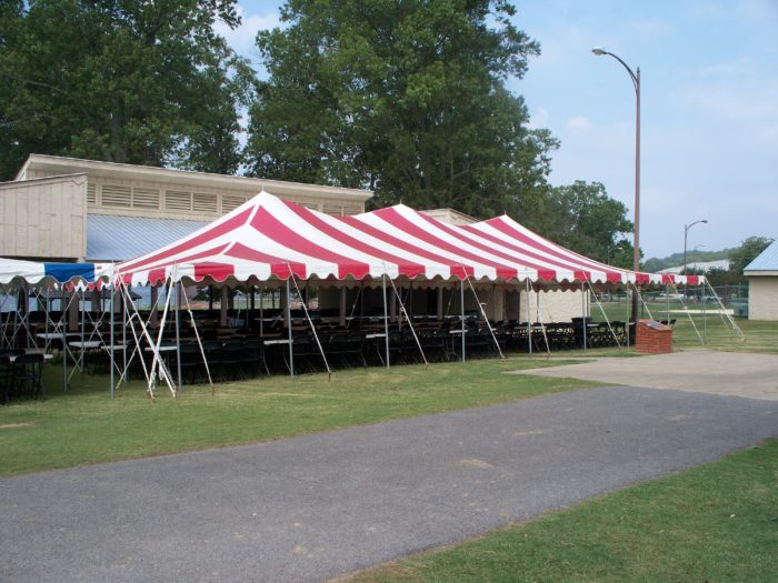30x60 Red & White Pole Tent