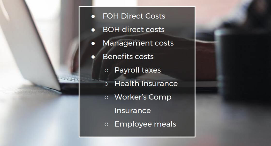 Labor Costs Include