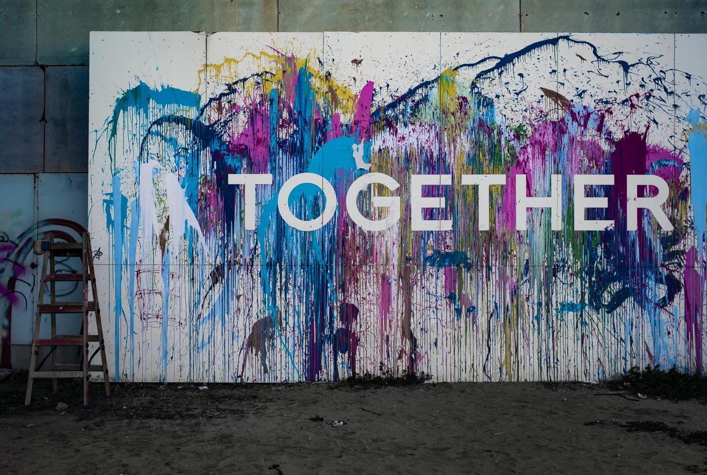 Together painted wall