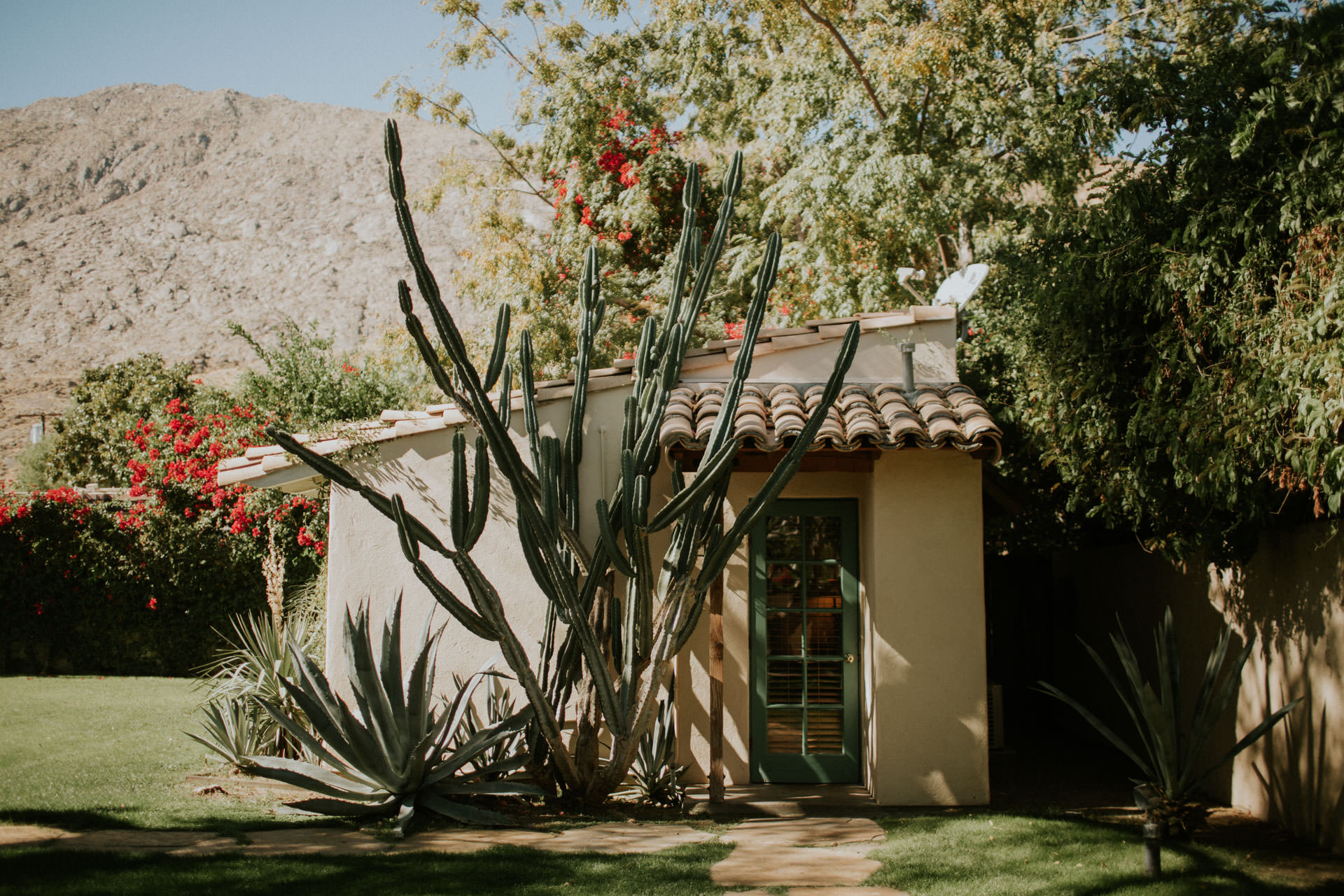 one of the adobe rooms made at casa cody inn and bed and breakfast in palm springs california