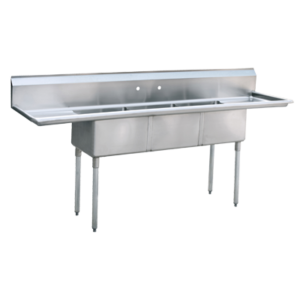 Sink, (3) Three Compartment