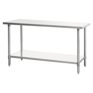 """Work Table, 54"""" - 62"""", Stainless Steel Top"""
