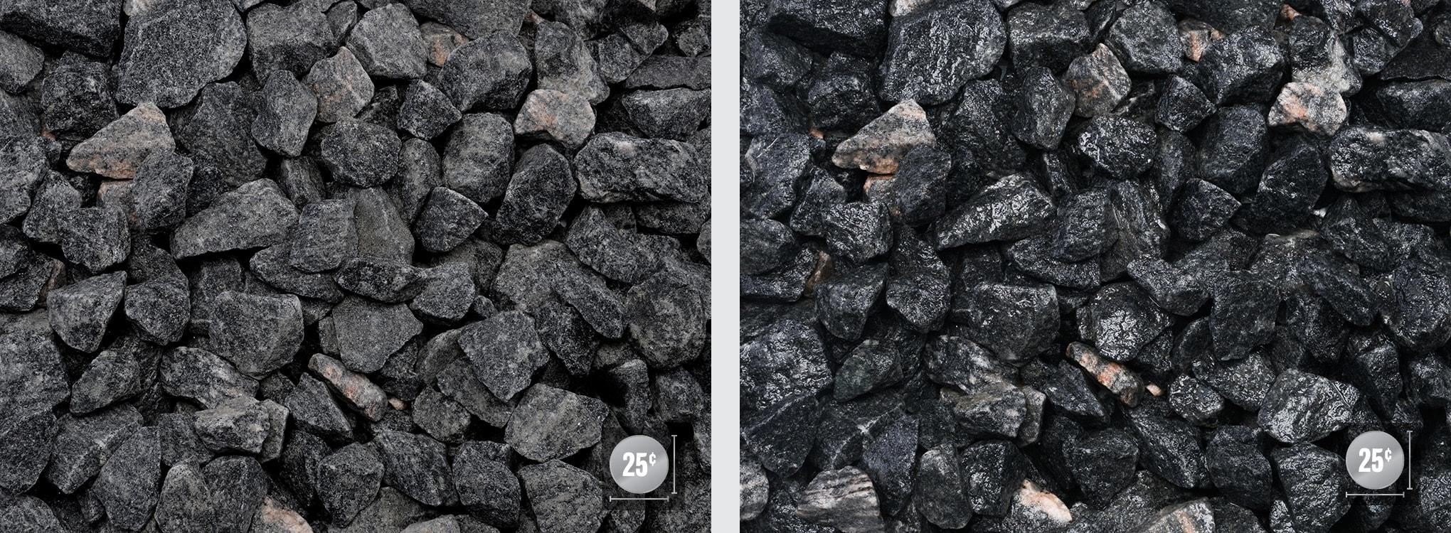 black granite chips
