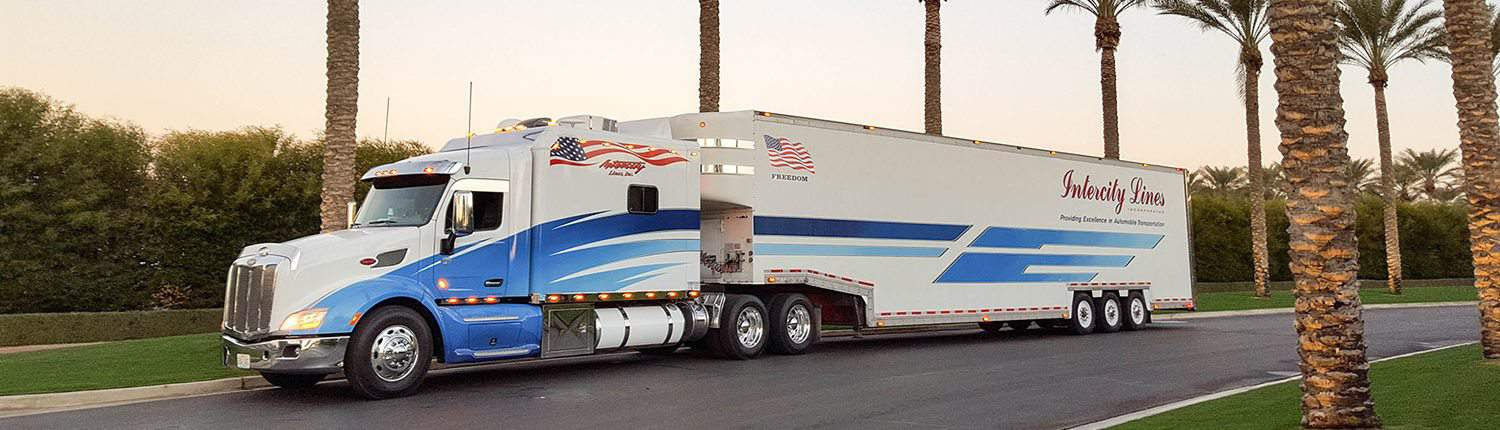Intercity Lines Enclosed Auto Transport Truck
