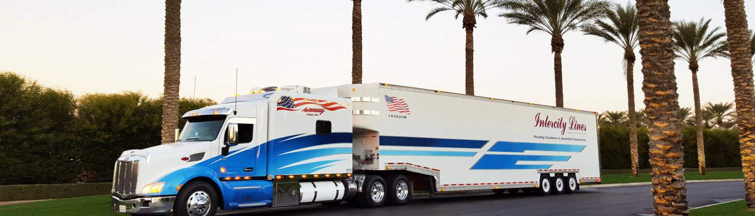 Intercity Lines Enclosed Trailer Truck