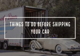 things to do before shipping your car