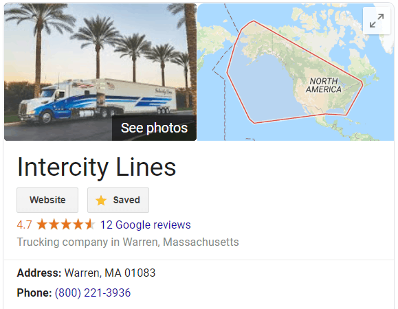 google intercity lines enclosed auto transport