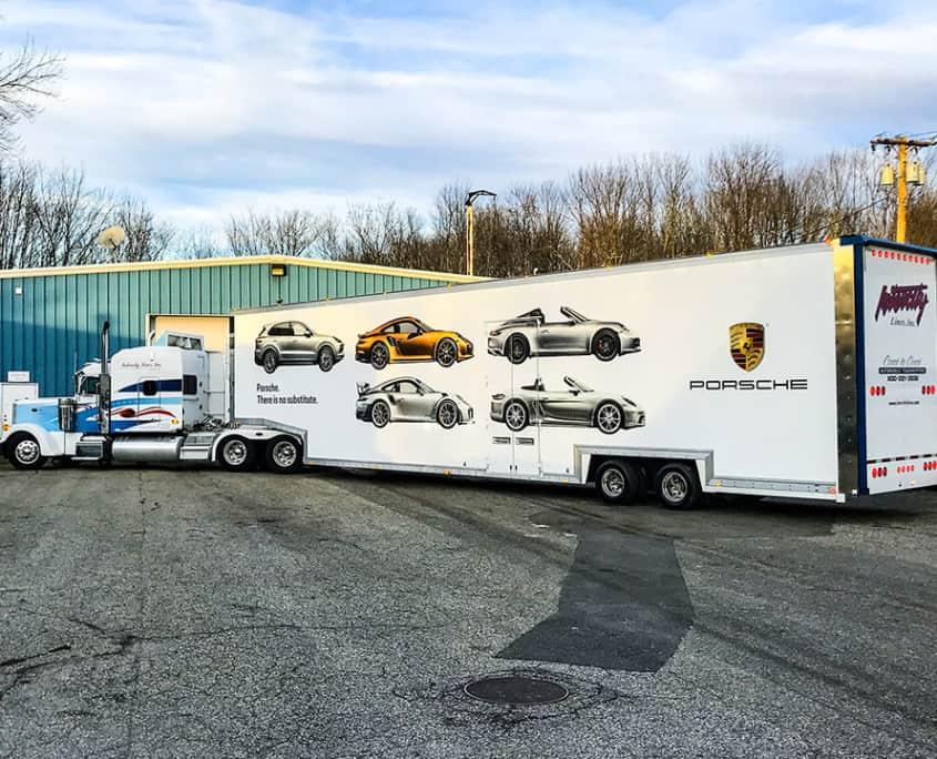 intercity lines enclosed auto transport trailers