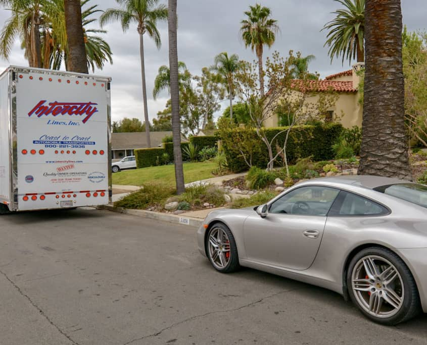 shipping a porsche to florida intercity lines