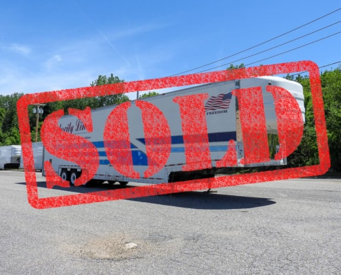 sold auto transport trailer