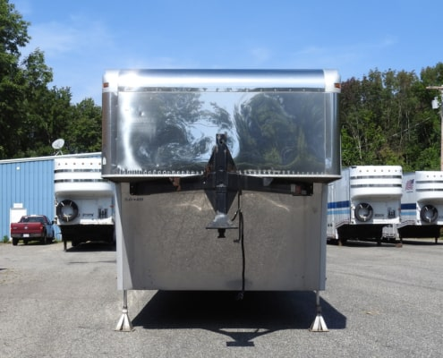 2 car air ride auto transport trailer