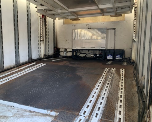 inside of a 1996 kentucky enclosed car hauler for sale