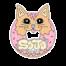 SoJo's cat donut logo Sticker