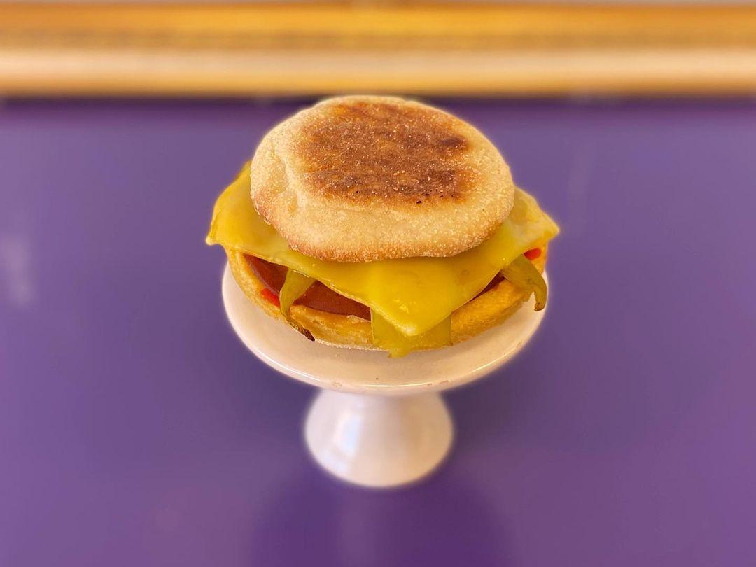 Slim Denver's Green Chile Breakfast Sandwich