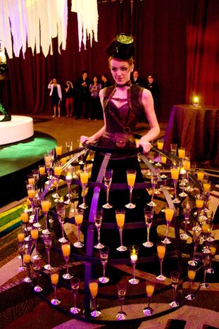 champagne cocktail waitress