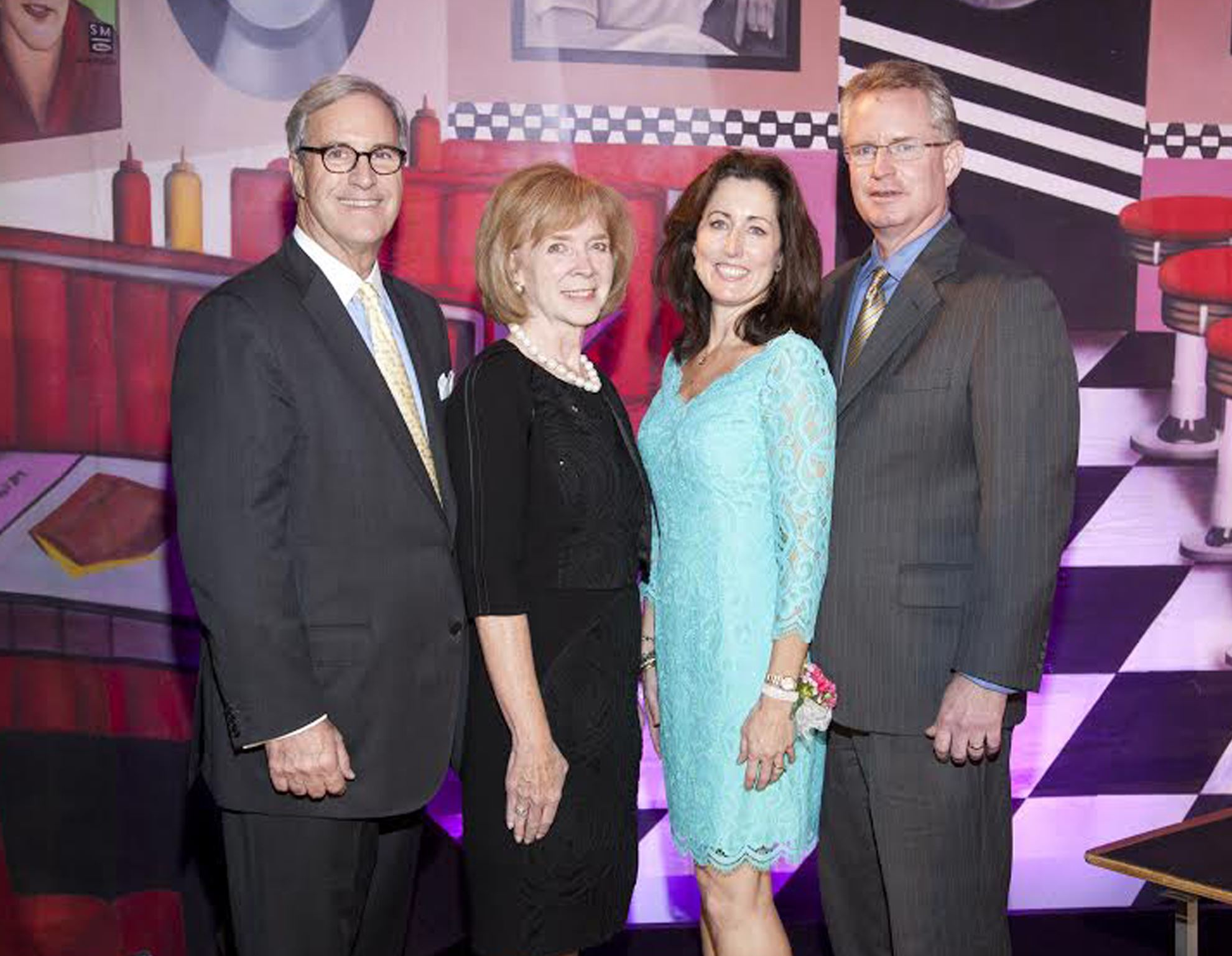 Oakland Catholic High School Gala: Honorary chairs, Ty and Katherine Freyvogel and event chairs, Kelly and Tom McDonnell.