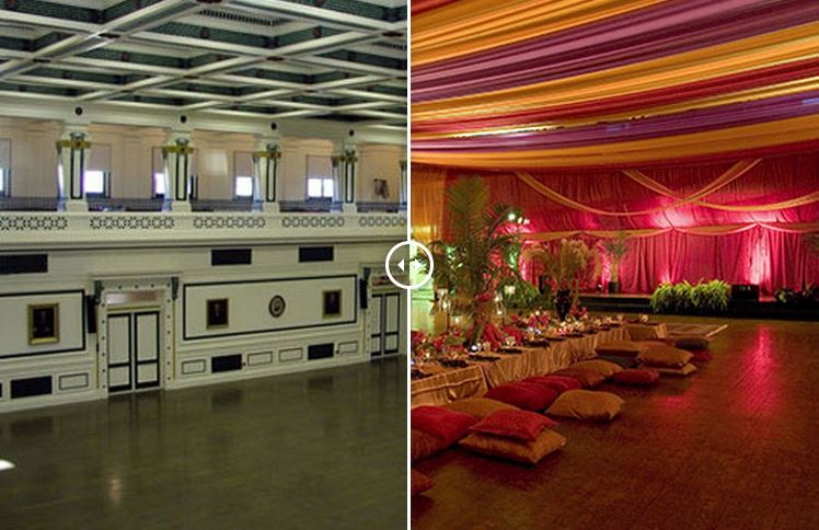 Persian Party Before and After | The Event Group, Pittsburgh Wedding and Event Planners