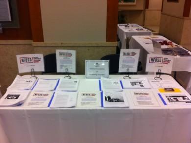 NFOSD Exhibit table at Johns Hopkins
