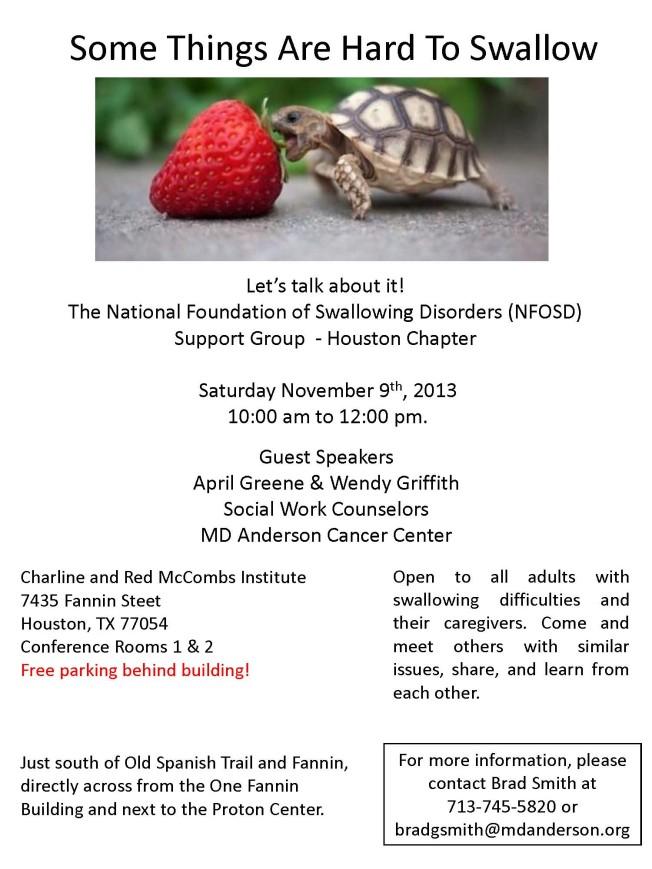 NFOSD support group brochure Nov 9th 2013