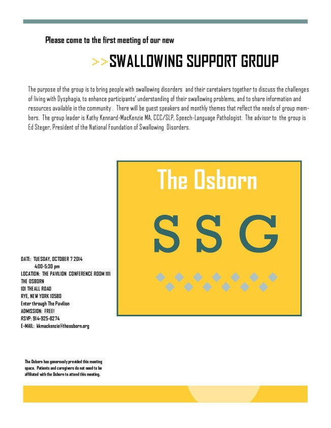 Swallowing Support Group flyer revised
