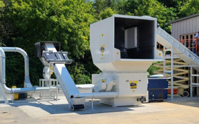 Cresswood delivers and installs a new shredder for pallet recycling in Lebanon, PA