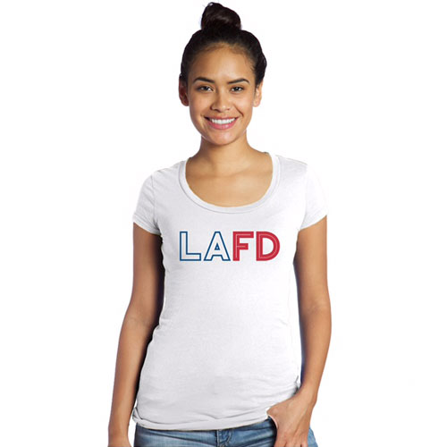 LAFD Womens Scoop Neck T-Shirt