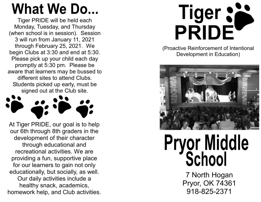 Pryor Middle School What We Do
