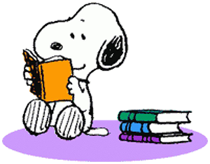 books and dog