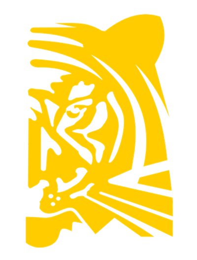 yellow tiger face