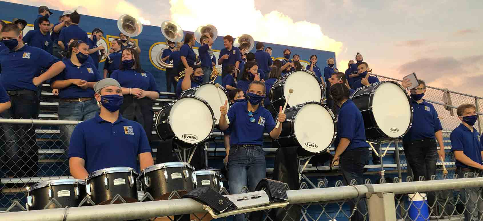 band in stands