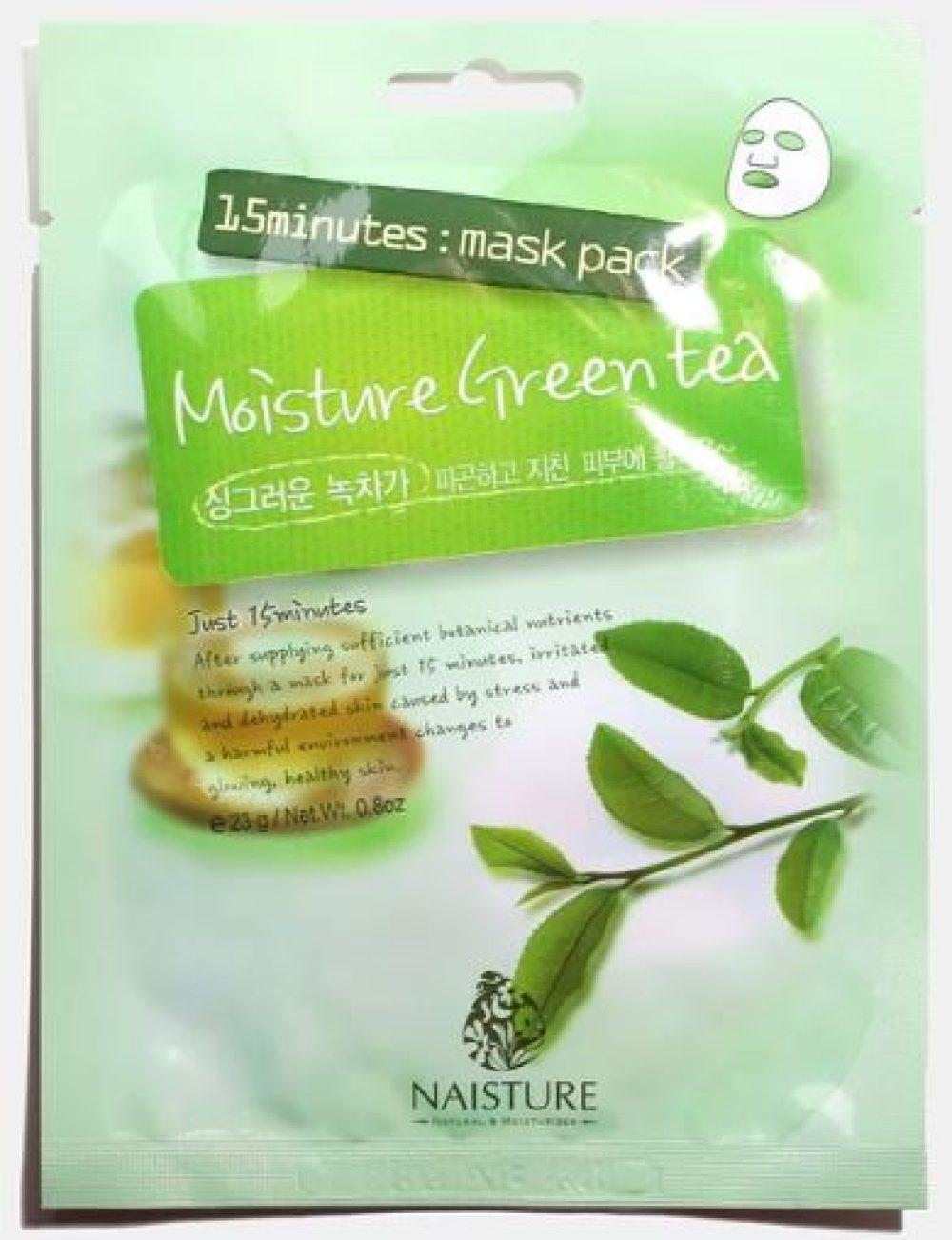 moisture green tea mask pack