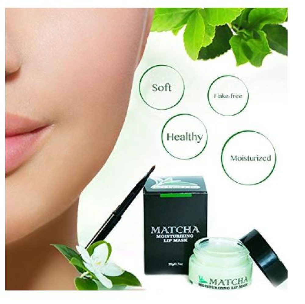 Matcha moisturizing lip mask