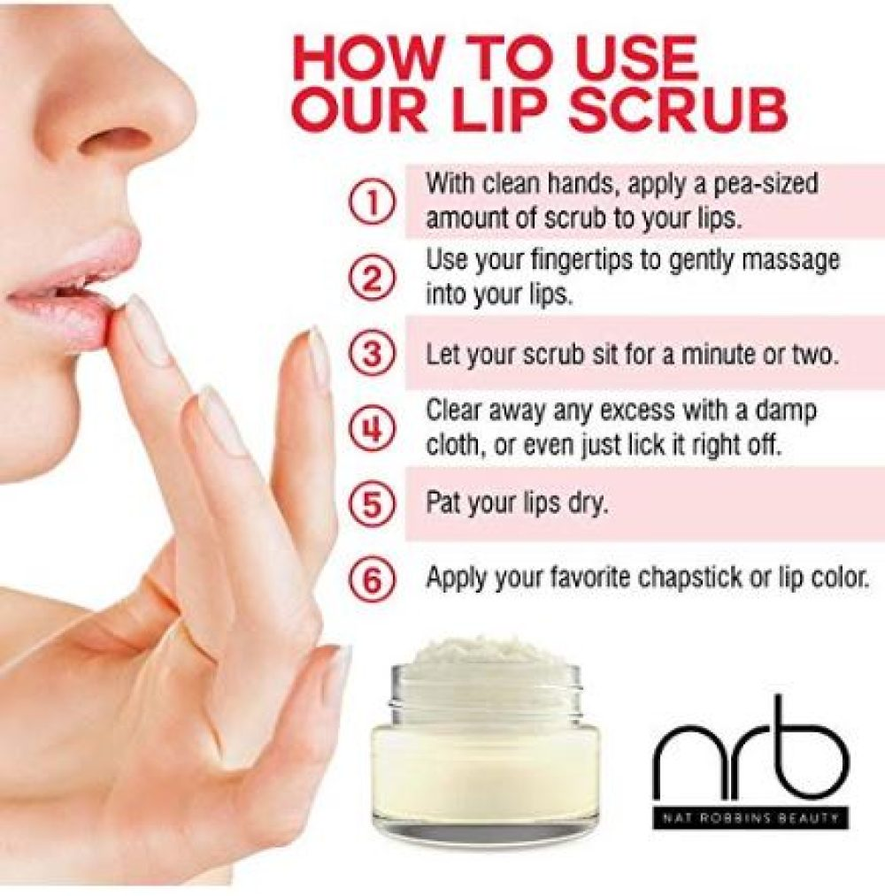 How to use our lip scrub