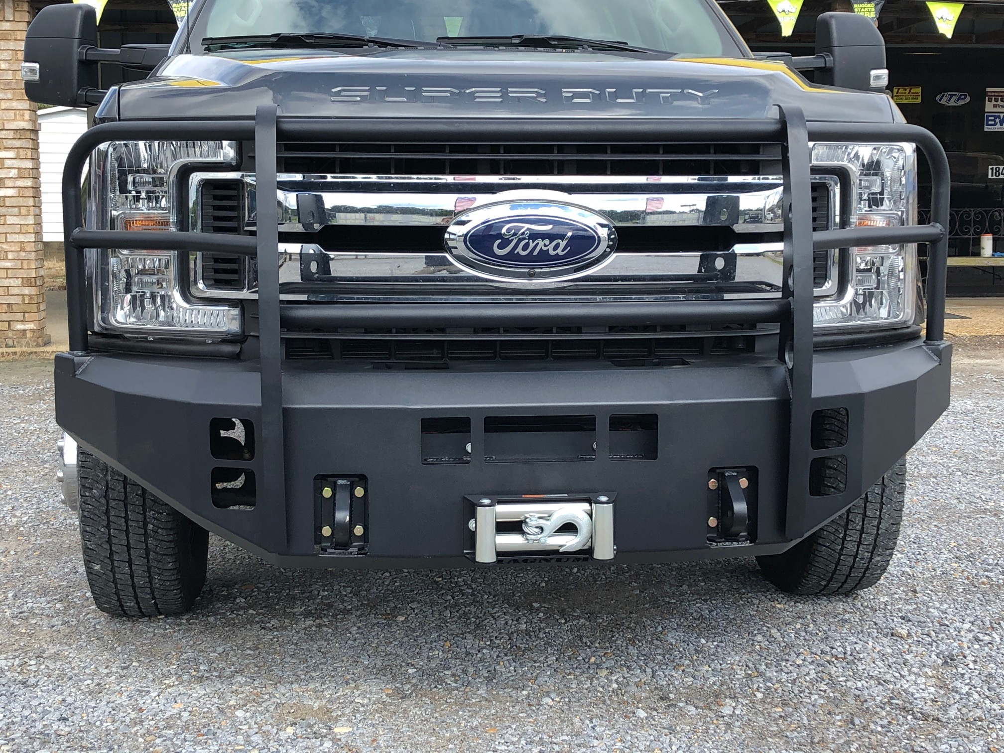 ICI Front Winch Bumper Replacement with a 12k Warn Evo Winch.