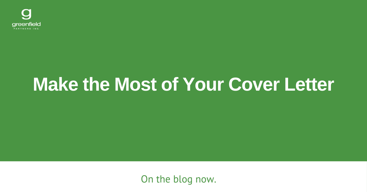 Make the Most of Your Cover Letter