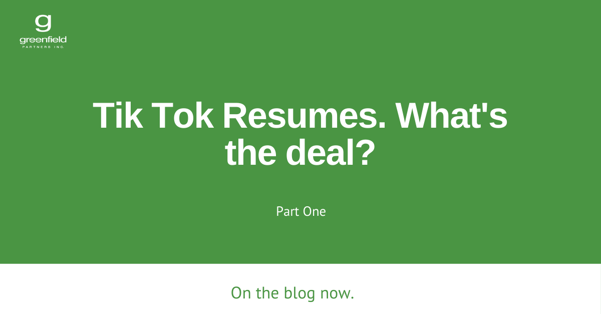 What's the Deal with Tik Tok Resumes? Part 1.