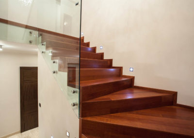 Travertine house - staircase