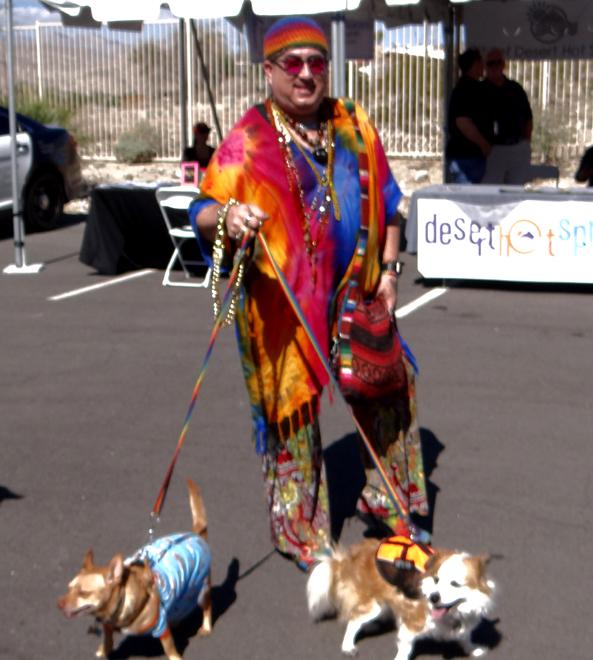 Rainbow Dog Walker