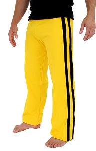 Yellow Capoeira Pants with Black Stripe