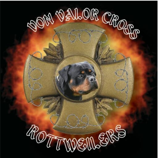 Von Valor Cross Rottweilers Logo