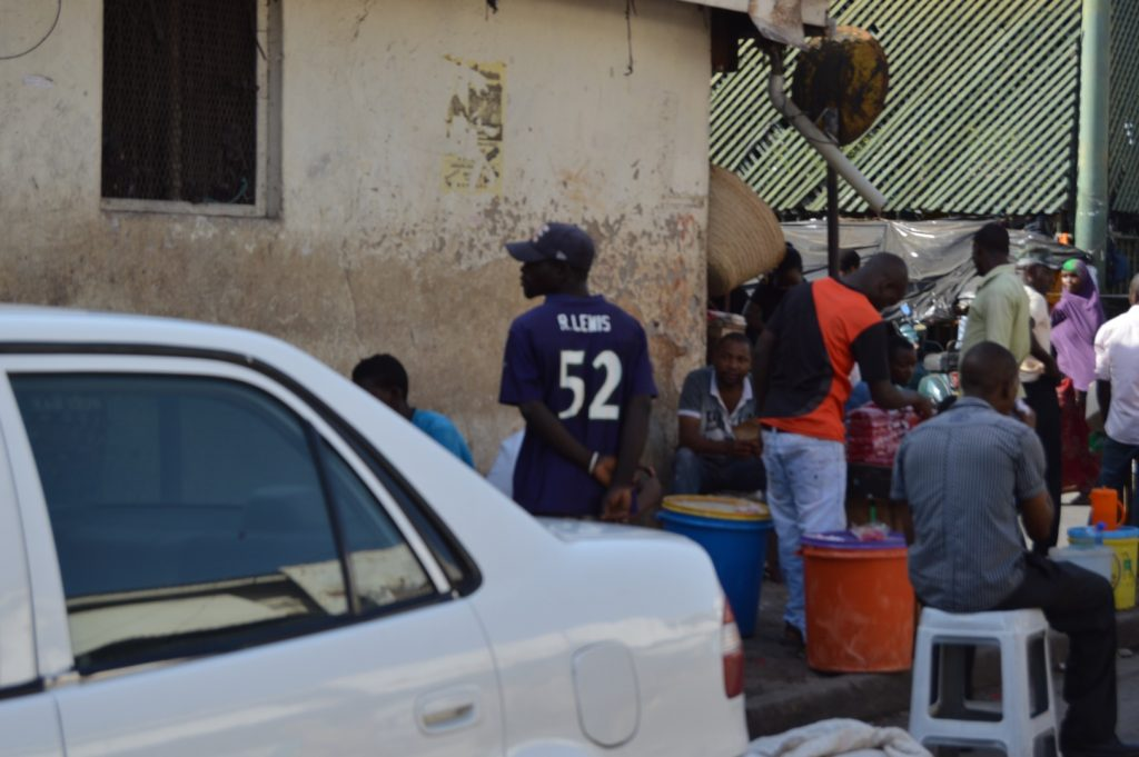 THIS guy gets it! Wearing the Ray Lewis Ravens jersey all the way in Mombasa!