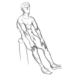 Life Drawing Male Made with Pencil Beazie the Artist