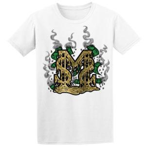 beazie the artist sms tee shirt design gold melting smoke