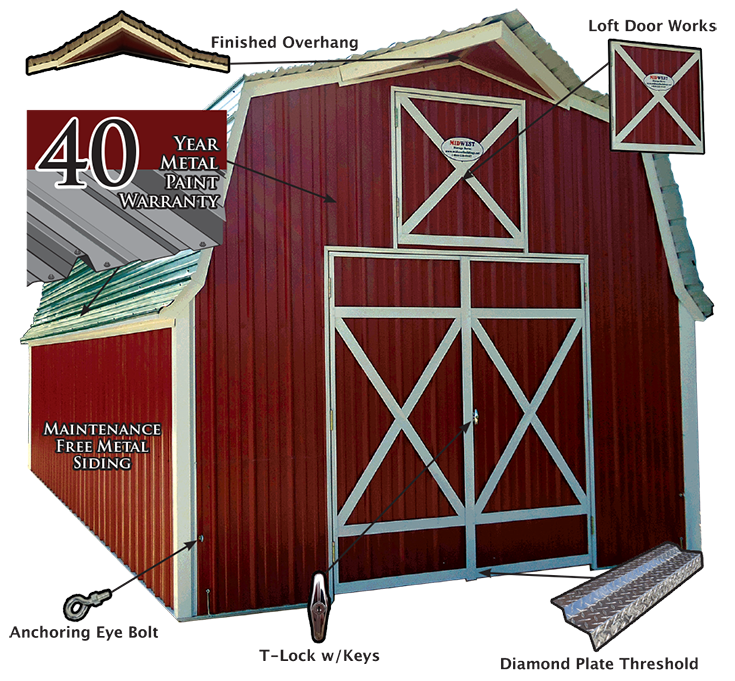 MidWest Storage Barn Features