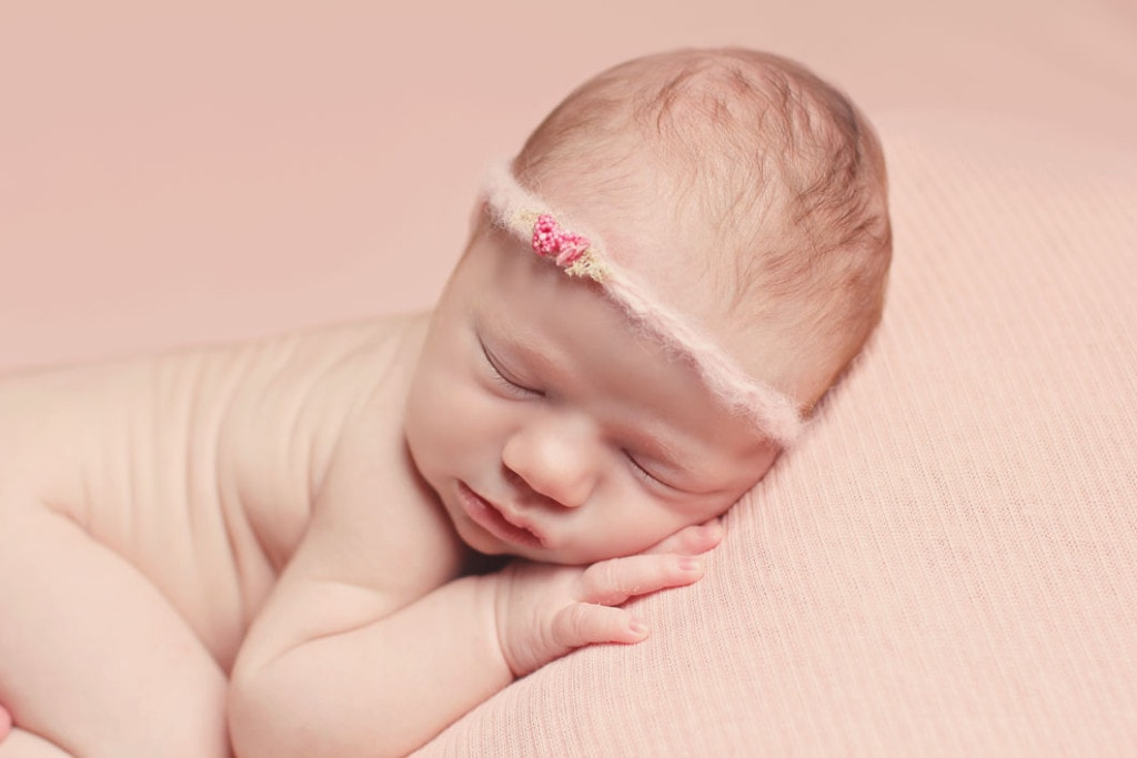 8 day old New Orleans newborn girl