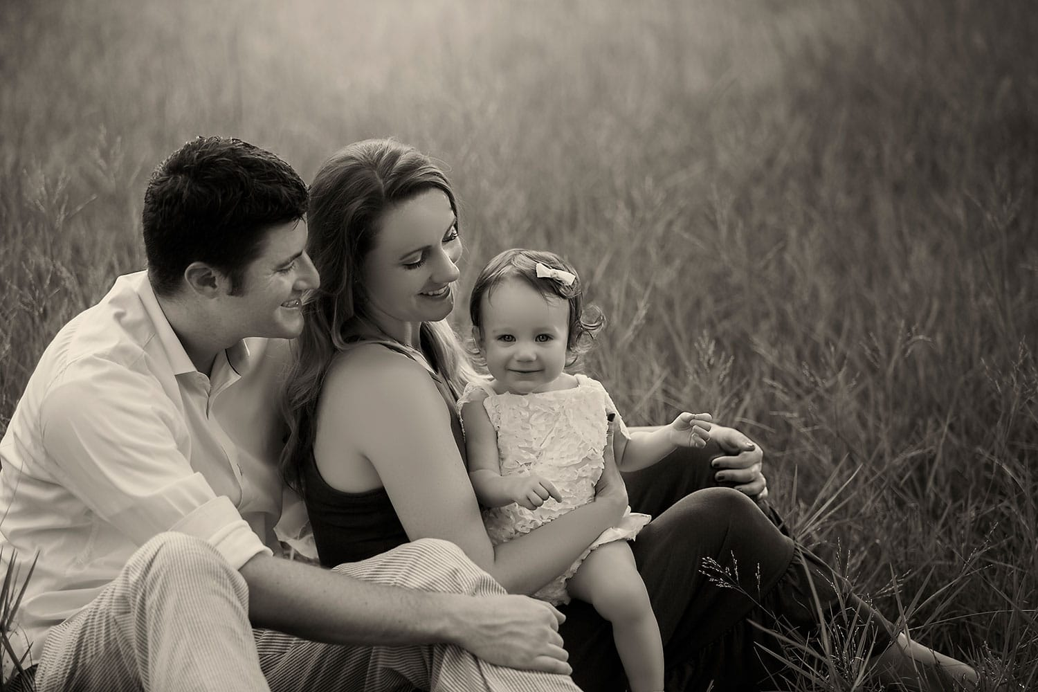 amazing black and white family photo by Annie Whitaker Photography