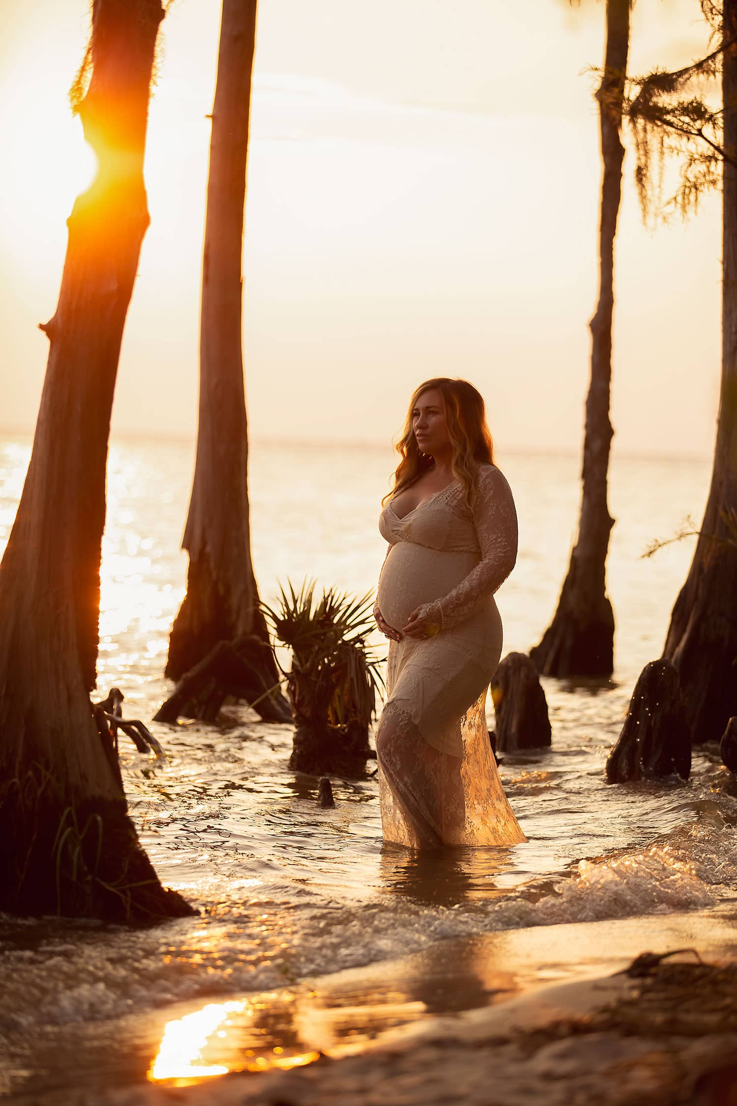 Fountainebleau State Park maternity session