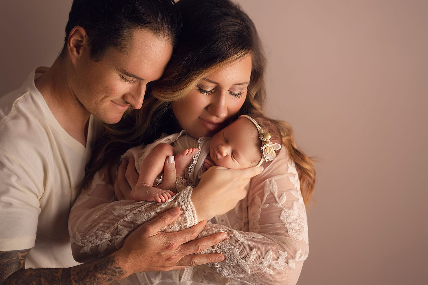 Lovely family of three's first family photo by Annie Whitaker Photography