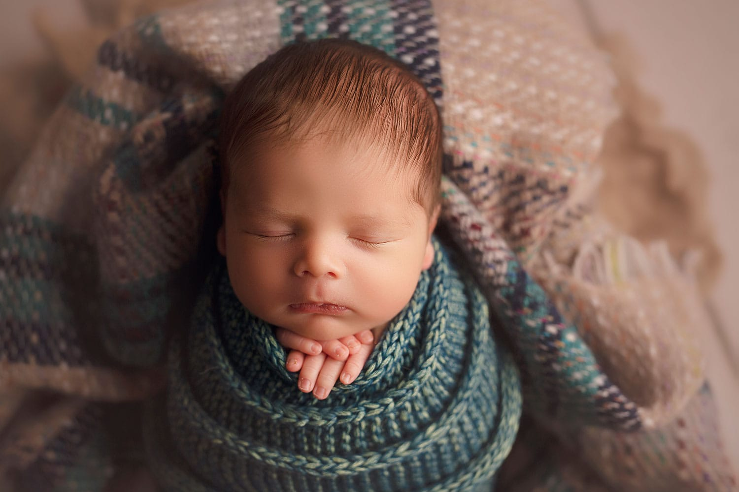 Newborn boy in fall colors by Annie Whitaker Photography