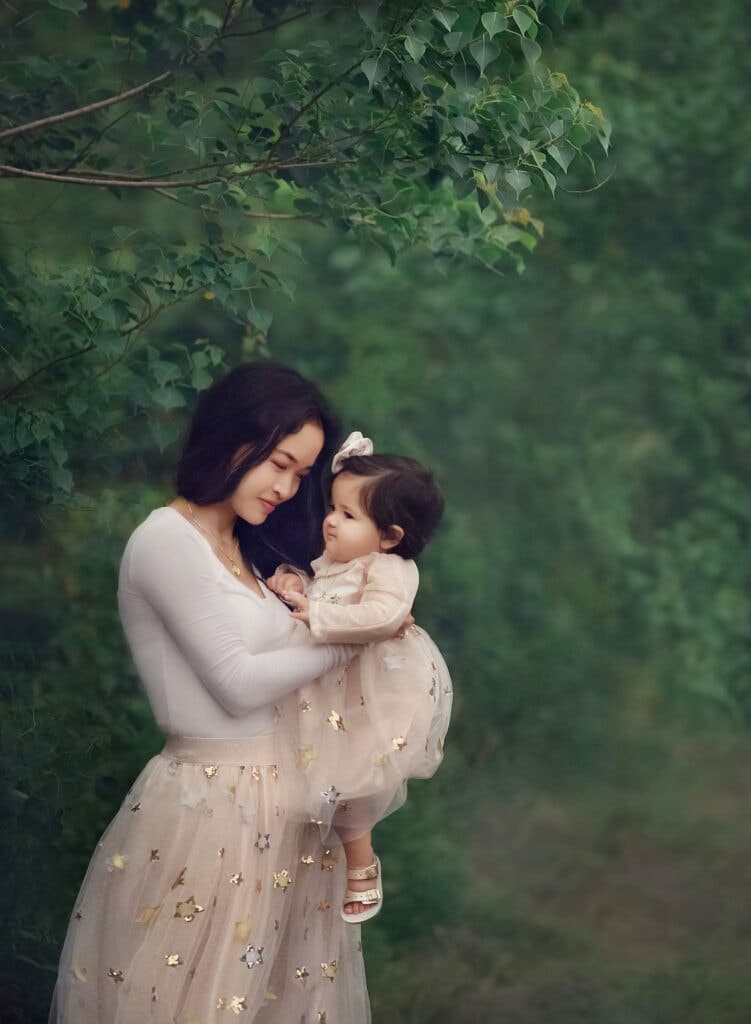 Fine art photograph of mother with child